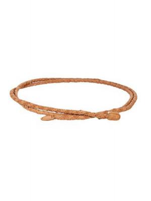 Curea Dama Pieces Odelia Braided Waist Belt Pale Brown