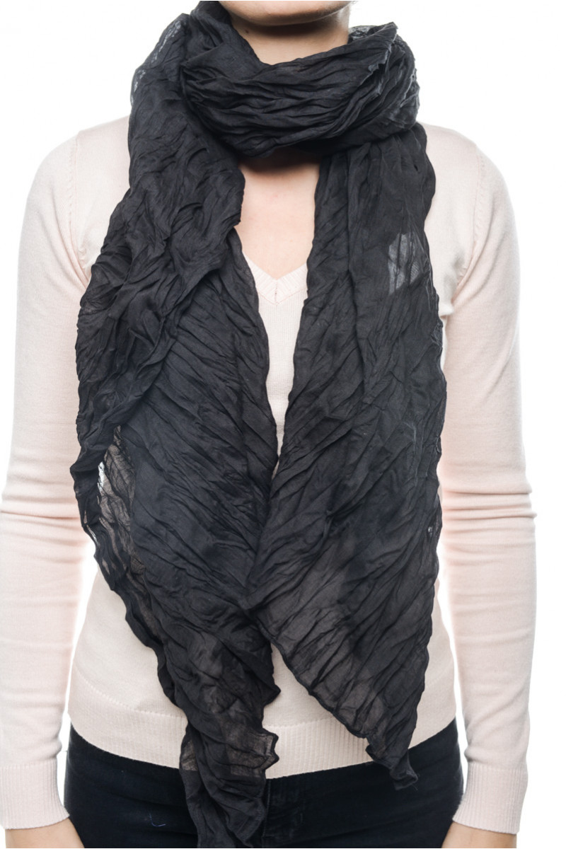 Women Scarf Pieces Jaqeline Long Scarf Black