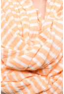 Women Scarf Vero Moda Wp Spring Lines Tube Scarf Peach Cobbler