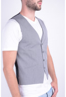 Vesta Barbati Selected Jack&Jones Shdome Maze Waistcoat Light Grey