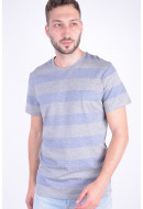 Tricou Barbati Jack&Jones Jortickle Blu Tee Ss Crew Neck Light Grey Melange