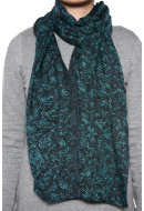 Esarfa Dama Pieces Malu Long Tube Scarf Teal Blue