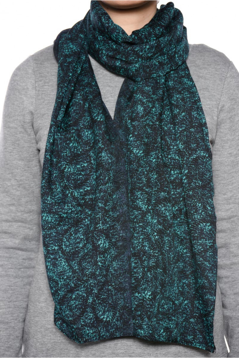 Women Scarves Pieces Malu Long Tube Scarf Teal Blue