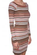 Rochie Dama First And I Fisvan Dodycon Dress Illusion Blue / Multicolor