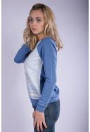 Bluza Dama Rainbow Fid008589 Albastru