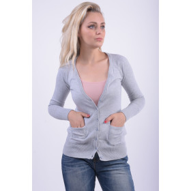 Cardigan Dama Sublevel D9600m90316a Gri Deschis