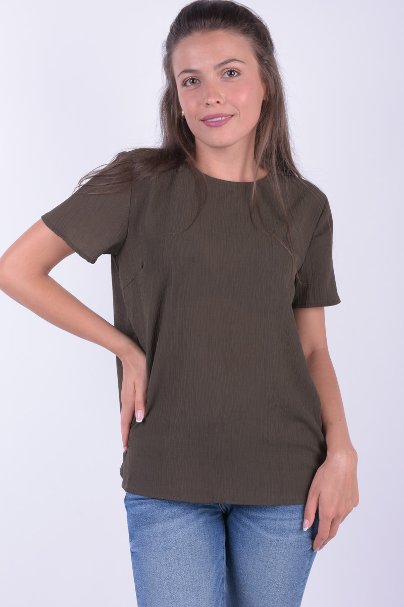 Bluza Dama Pieces Pcakira Ss Top Ff Grape Leaf