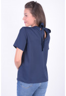 Bluza Dama Pieces Pcglenda Ss Top Maritime Blue