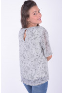 Bluza Dama Pieces Pcmabel 2/4 Sleeve Top Cloud Dancer / Ground