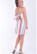 Rochie Dama Vero Moda Vmbow Stripe Sl Mini Dress Snow White