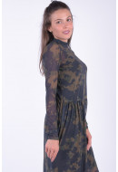 Rochie Dama Pieces Pclea Ls Midi Mesh Dress Pesto / Camoflage