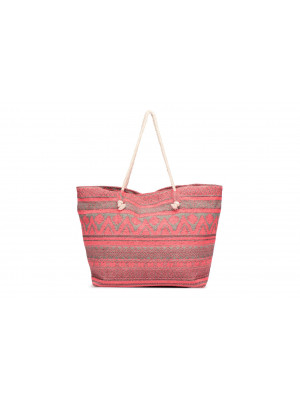 Poseta Dama Pieces Pcgrage Canvas Shopper Coral