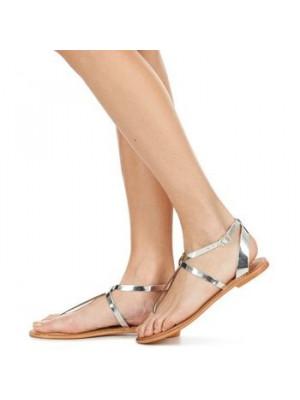 Sandale Dama Vero Moda Vmanneli Leather Sandal Silver
