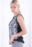Bluza Dama Utg 4786-46 Nu Negru / Alb