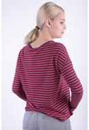 Bluza Dama Vero Moda Majera L / S Stripe Top Nfs Rosu / Bleomarin