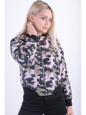 Geaca Dama Vero Moda Vmdicte Printed Short Jacket Mermaid / Camo