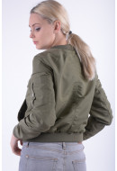 Women Jacket Vero Moda Vmdicte Spring Short Jacket Ivi Green