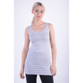 Women Tops Vila Officiel Long Tank Tops Grey