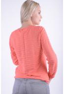 Women Sweater Signature 6499 Coral