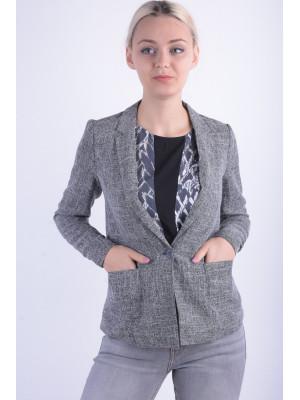 Sacou Dama Vero Moda Vmnewzen L / S Blazer Dark Grey Melange