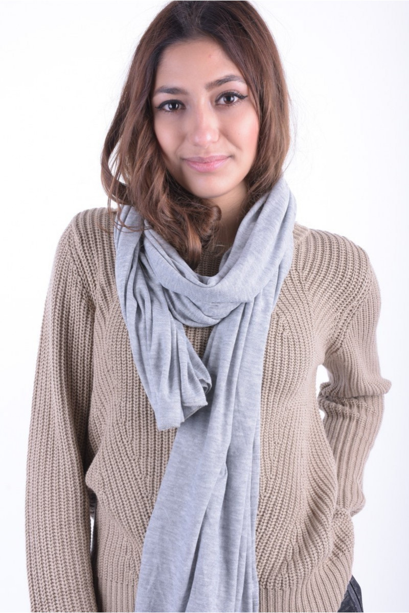 Esarfa Dama Pieces Electra V Must Scarf Light Grey