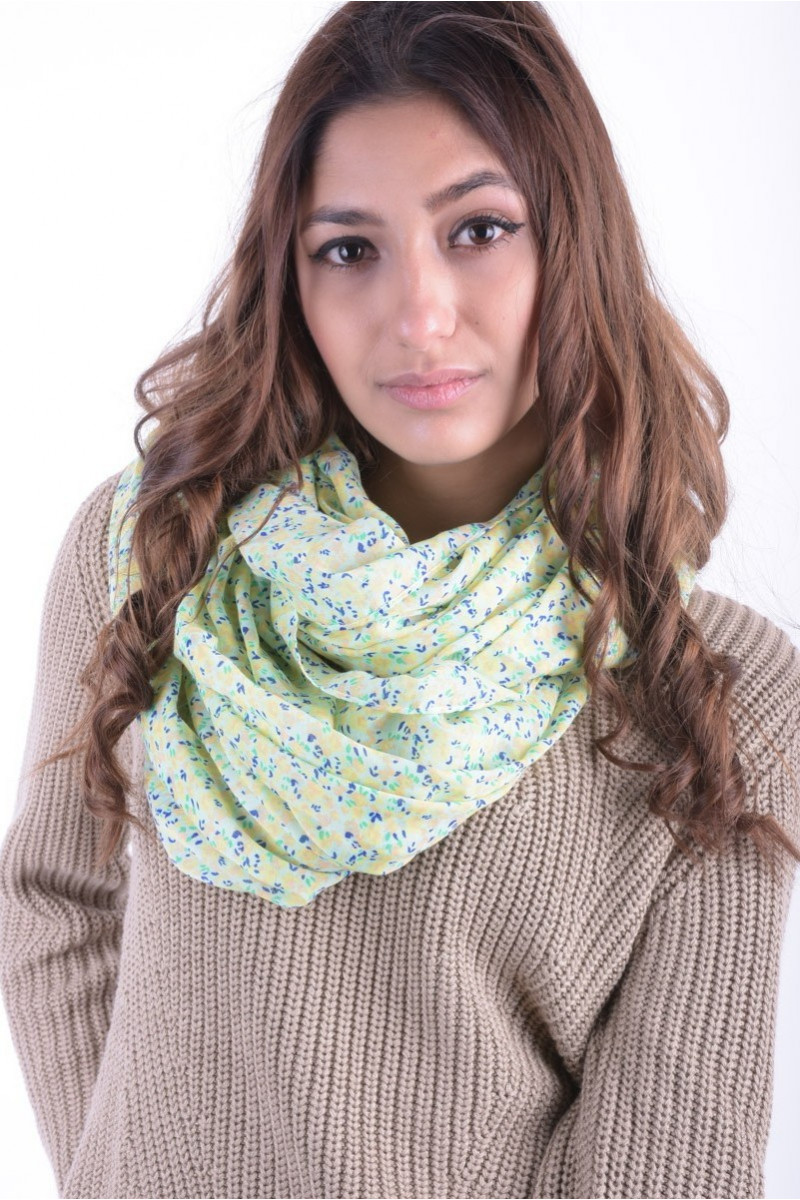 Esarfa Dama Pieces Ps Vuz Tube Scarf Exp Mellow Yellow
