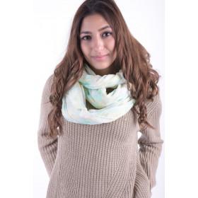Women Scarves Vero Moda Wp Blossom Tube Scarf Lucite Green
