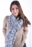 Women Scarf Vila Nenoir Scarf Light Grey Melange / Nenoir