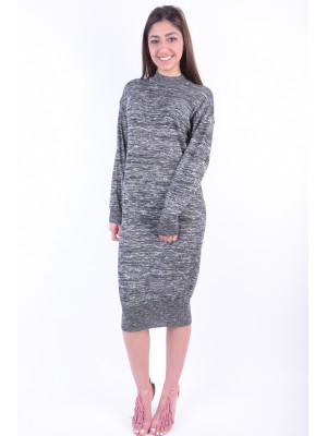 Rochie Dama Noisy May Dama Noisy May Nmcrow L / S High Neck Long Dress Black / With Snow