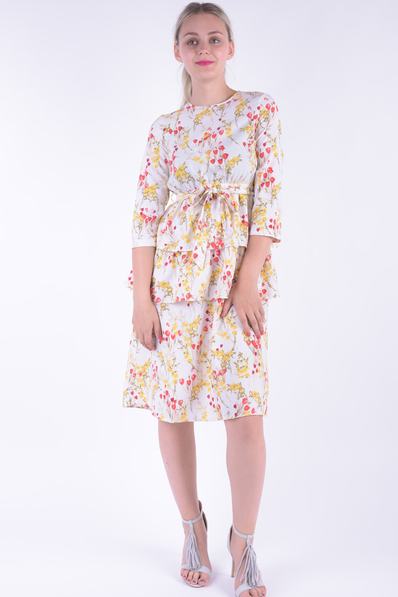 Rochie Dama Vero Moda Vmbreathe Puff Blk Dress Snow White / Flower
