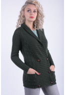 Cardigan Dama Vila Jolly Knit Cardigan Darkest Spruce