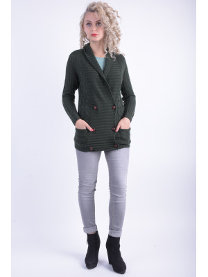 Cardigan Dama Vila Jolly Knit Cardigan Darkest Spruce