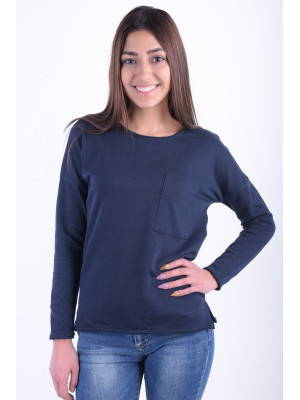 Bluza Dama Noisy May Nmchristian Ls O-neck Sweat Navy Blazer