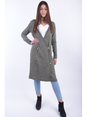 Cardigan Dama Noisy May Nmfly Ls Long Knit Cardigan Ivy Green