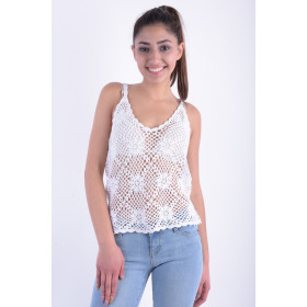 Women Tops I Avion Rose Saf15163 I White