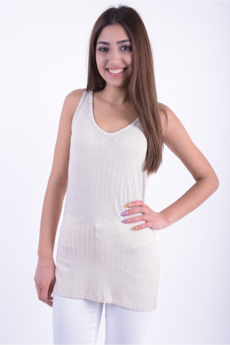 Women Top Vero Moda New Vmnille Sl Tank Top Oatmeal