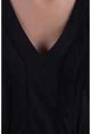 Rochie Dama Vero Moda Vmaneborder Cap Cleeve Short Dress Negru