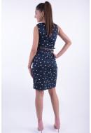 Rochie Dama Vero Moda Vmpekaya Sl Short Dress Black Iris / Snow White Dots