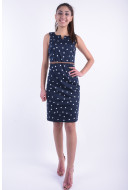 Rochie Dama Vero Moda Vmpekaya Sl Short Dress Black Iris / Snow White Dots