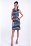 Rochie Dama Vero Moda Vmpekaya Sl Short Dress Black Iris / Snow White Stripe