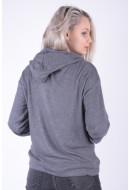 Women Hoodie Pieces Pccaia Ls Sweat Hoodie Xmas Medium Grey Melange