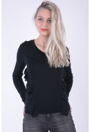 Pulover Dama Pieces Pcjoanne Ls Knit Negru