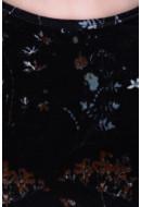 Rochie Dama Pieces Pcrieces Ls Dress Black / Ground Gold