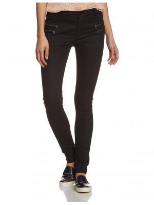 Pantaloni Dama Noisy May Fame Nw Copated Zip Pants Negru
