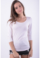 Bluza Dama Vila Off 3 / 4 O Neck White Peach