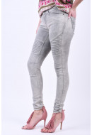 Blugi Dama Noisy May Nmeve Lw Superslim Biker Jeans Light Grey Denim