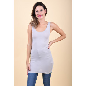 Maieu Dama Vila Officiel Long Tank Top Gri