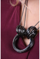 Colier Dama Only Onlrundella Necklace Gunmetal