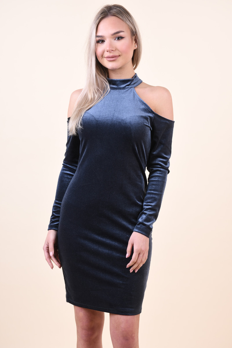 Rochie Dama Pieces Pcagnete Glitter T-neck Dress Navy Blazer