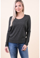 Bluza Dama Pieces Pcbillo Ls Noos Black/Bright White